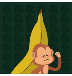 Jungle monkey cartoon vector
