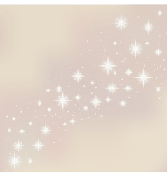Merry Christmas starry background vector image