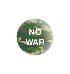 No war concept earth in camouflage planet vector