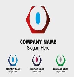 O logo company name symbol letter o vector