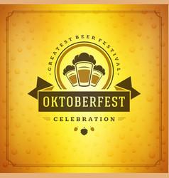 oktoberfest beer festival celebration vintage vector image vector image