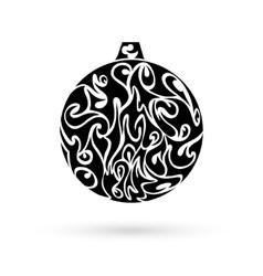 Ornate christmas ball vector image vector image