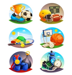 Pictures Collection Of Sport Inventory vector image vector image
