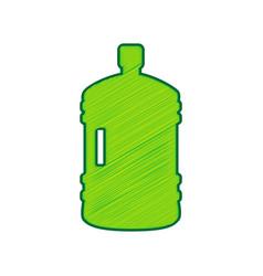 plastic bottle silhouette sign lemon vector image vector image