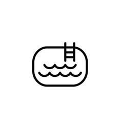 pool icon thin line black on white background vector image vector image