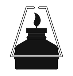 Portable gas burner black simple icon vector image