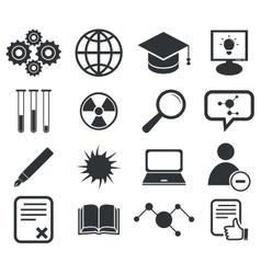 Science icon set 2 simple vector
