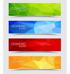 Set of geometric polygonal banner vector image vector image