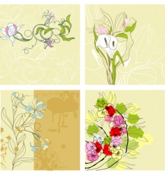 set of vintage background vector image