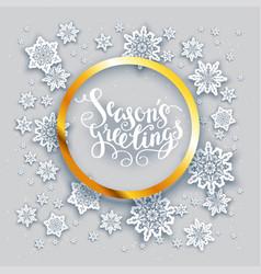 snowflakes holiday card vector image