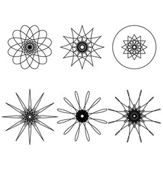 spirograph design elements vector image vector image