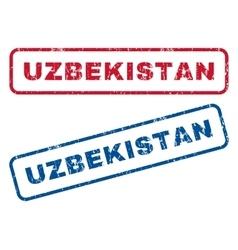 Uzbekistan rubber stamps vector