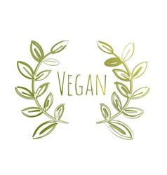 Vegan eco label vector
