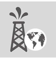 World oil industry consumption oil tower vector
