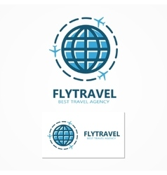 World travel logo vector