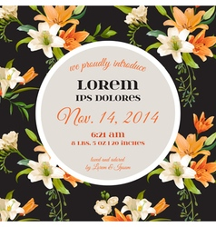 Invitation or congratulation card - for wedding vector