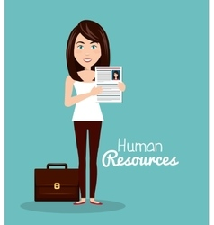 Girl portfolio cv human resources vector