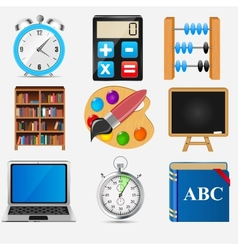 Different school icon set2 vector