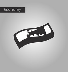 Black and white style icon dirty money vector