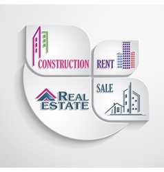 Modern concept for real estate business vector