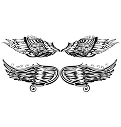 Tattoo wings vector image