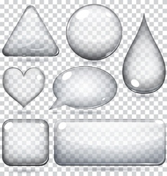 Transparent glass shapes vector