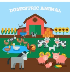 Domestic animals concept vector