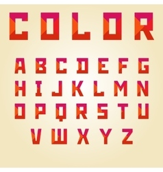 Abstract color alphabet vector