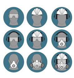 Personal protective equipment builder vector