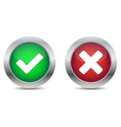 Approved and rejected buttons vector