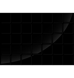 Black tiled background vector