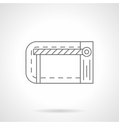 Traffic barrier flat line icon vector