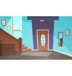 Cartoon interior - blue vector