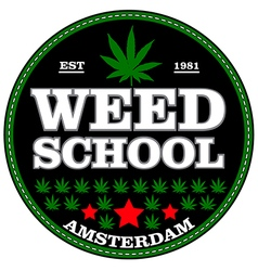 amsterdam Marijuana stamp over white background vector image