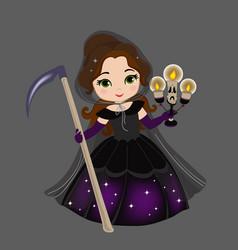 beautiful halloween princess vector image