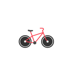 Bicycle solid icon navigation and transport sign vector