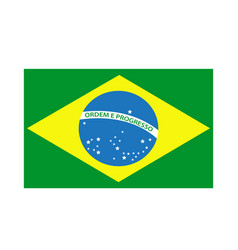 brazil flag icon isolated on white background vector image vector image
