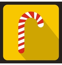 Candy cane icon flat style vector image