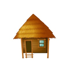 Cartoon hut vector image