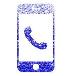Cell phone textured icon vector
