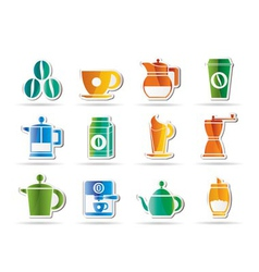 coffee industry signs and icons vector image