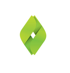 eco logo abstract symbol green geometric vector image
