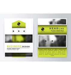 Flyer cover design green template brochure vector