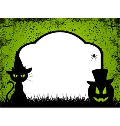 halloween background 12 vector image vector image