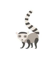 Lemur stylized childish drawing vector
