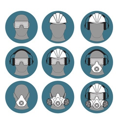Personal protective equipment builder vector