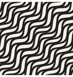Seamless diagonal wavy zigzag lines pattern vector