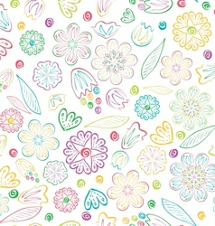 Seamless sweet floral pattern vector image