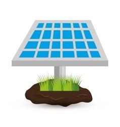 Solar panel isolated icon vector
