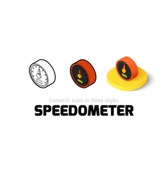 Speedometer icon in different style vector image